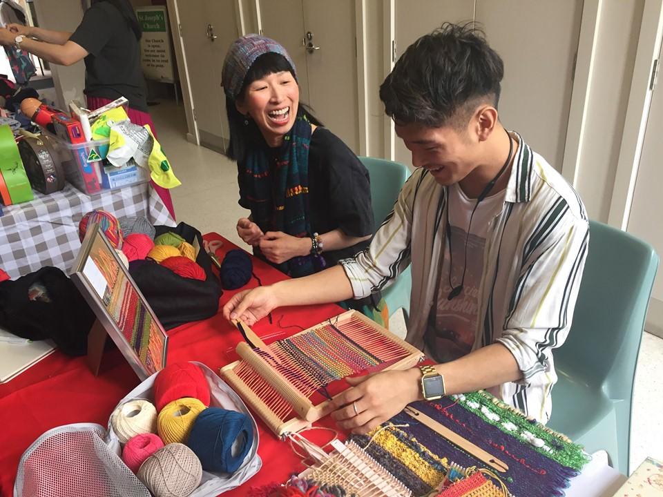 虹織り陽子の、手織りクラスです♪